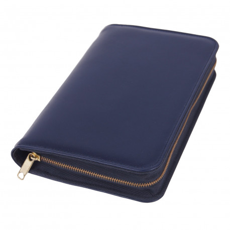 Bibelhülle, Nappa, blau für Taschenbibel (größere Ausgabe)