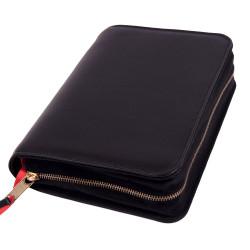 Bibelhülle, Nappa, schwarz für Taschenbibel (größere Ausgabe)
