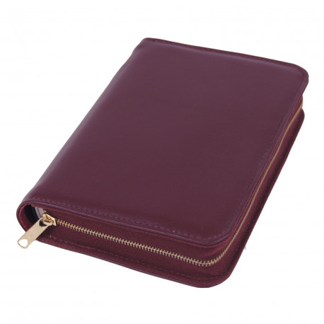 Bibelhülle, Nappa, weinrot für Taschenbibel (kleinere Ausgabe)
