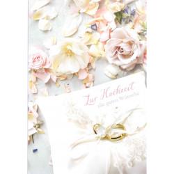Faltkarte zur Hochzeit - Streublumen