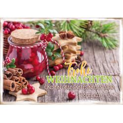 Faltkarte Weihnachten/Neu Jahr - Einmachglas