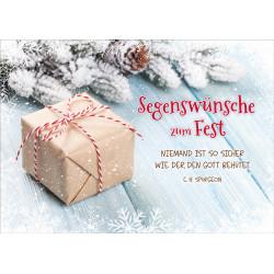 Faltkarte Weihnachten/Neu Jahr - Päckchen