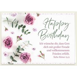 Faltkarte zum Geburtstag - Freude und Frieden
