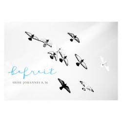 Postkarte - Befreit