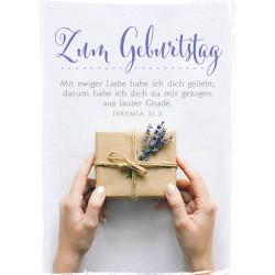 Postkarte zum Geburtstag - Päckchen