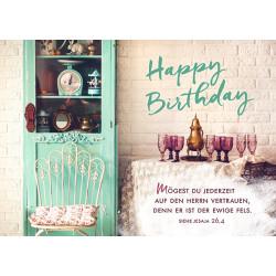 Postkarte zum Geburtstag - Vertrauen