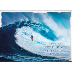 Postkarte - Wellenreiter