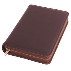 Bibelhülle, Premiumleder, dunkelbraun für Schreibrandbibel/klein