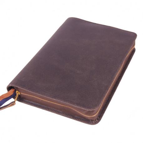 Bibelhülle, Texas, Leder im Used-Look, braun für Hausbibel