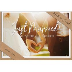 Faltkarte zur Hochzeit - Just Married