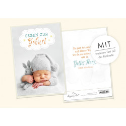Faltkarte zur Geburt - Gottes Hand