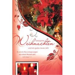 Faltkarte zu Weihnachten/Neu Jahr - Es ist ein Ros entsprungen