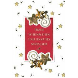 Faltkarte zu Weihnachten/Neu Jahr - Gewürze
