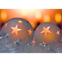 Faltkarte zu Weihnachten/Neu Jahr - 2 Kugeln