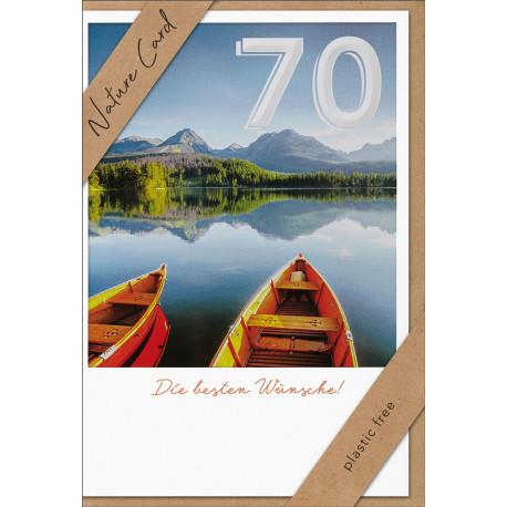 Faltkarte zum 70. Geburtstag - Zwei Boote