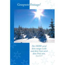 Postkarte Gesegnete Festtage - Winterwald