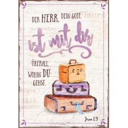 Postkarte -Bunte Koffer