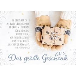 Postkarte zu Weihnachten - Das größte Geschenk