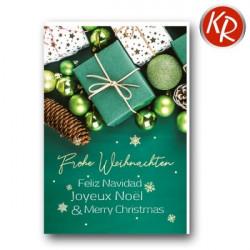 Faltkarte zu Weihnachten - Grünes Päckchen