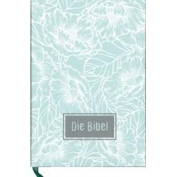 Taschenbibel, größere Ausgabe, Motiv Blumen