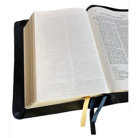Standardbibel, Leder, schwarz, Goldschnitt, Notizseiten