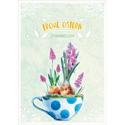 Faltkarte zu Ostern - Bepflanzte Tasse