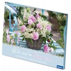 Postkartenbox Wir sind im Garten