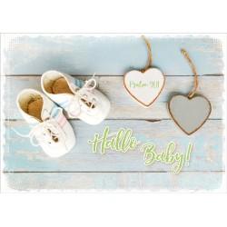 Faltkarte zur Geburt - Hallo Baby