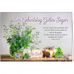 Faltkarte - Zum Geburtstag Gottes Segen