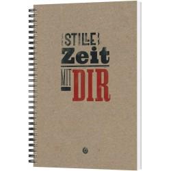 Stille Zeit mit Dir - Notizbuch Motiv Plakatschrift