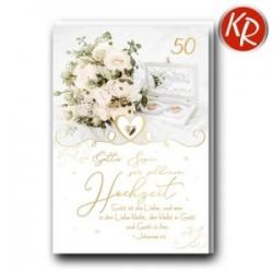 Faltkarte zur goldenen Hochzeit - Gott ist die Liebe
