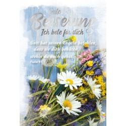Faltkarte zur Genesung - Wiesenblumen