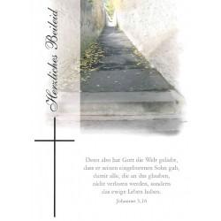 Faltkarte zu Trauer - Joh. 3,16
