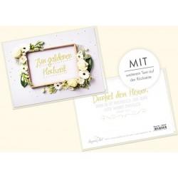 Faltkarte zur goldenen Hochzeit