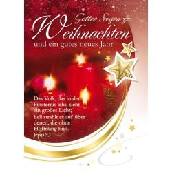Faltkarte Weihnachten/ Neujahr - Jes. 9,1