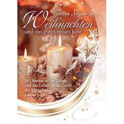 Faltkarte Weihnachten/ Neujahr - Joh.1,4